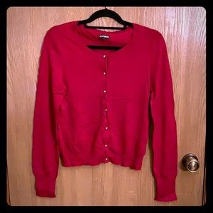 Red Express cardigan!